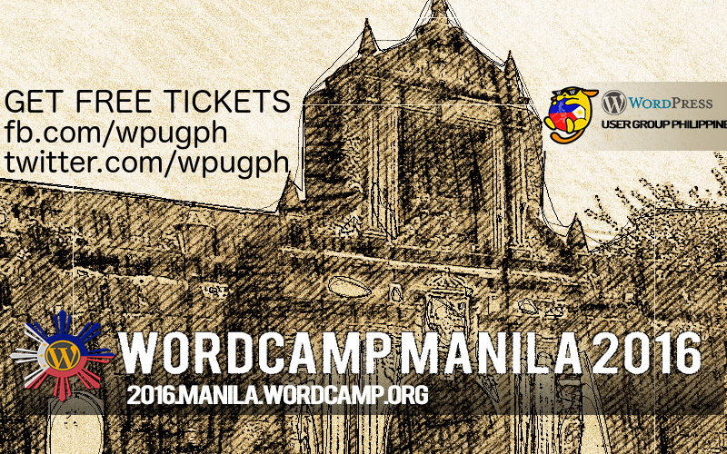 Get FREE tickets to WordCamp Manila 2016!